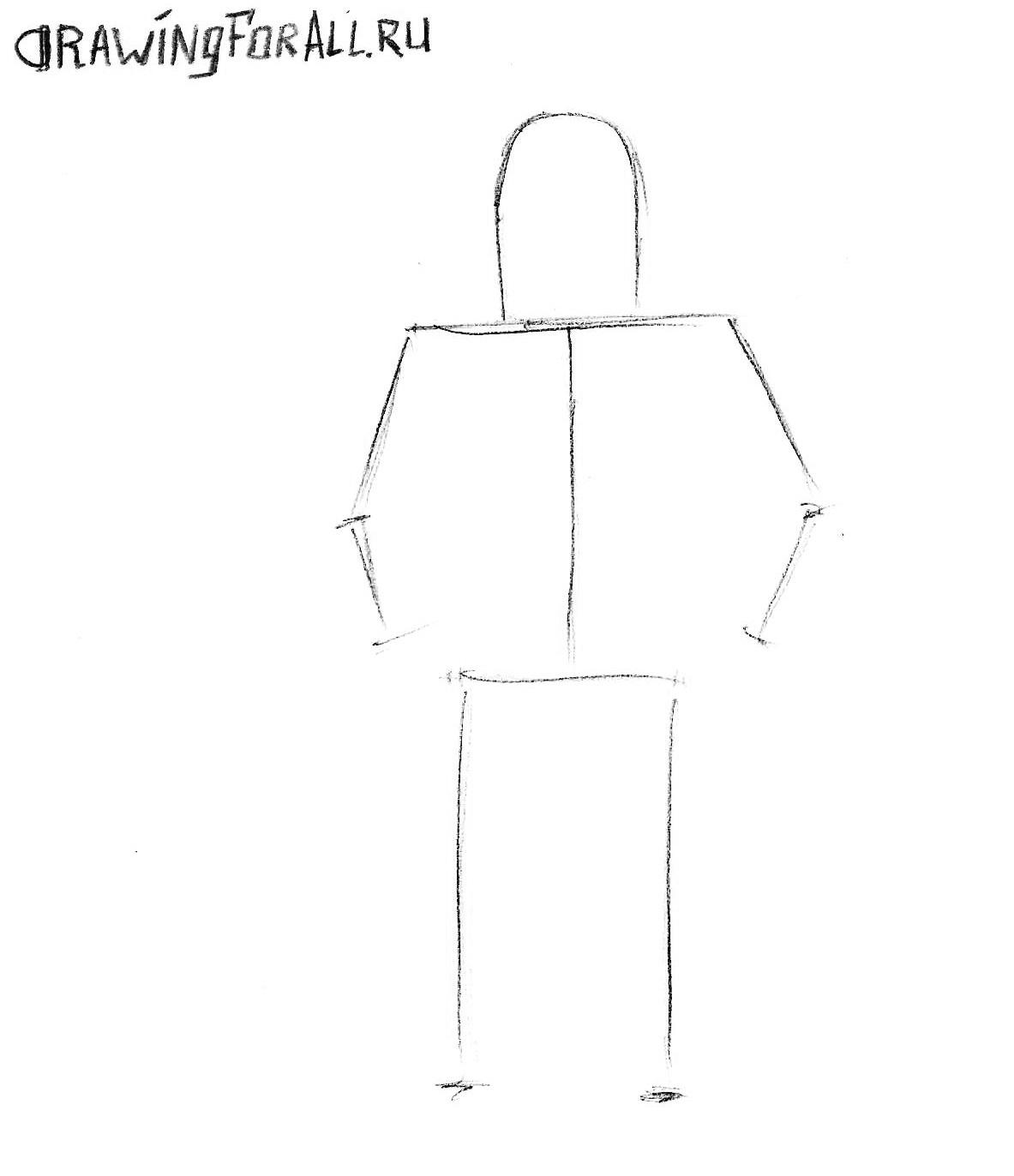 как нарисовать робота поэтапно