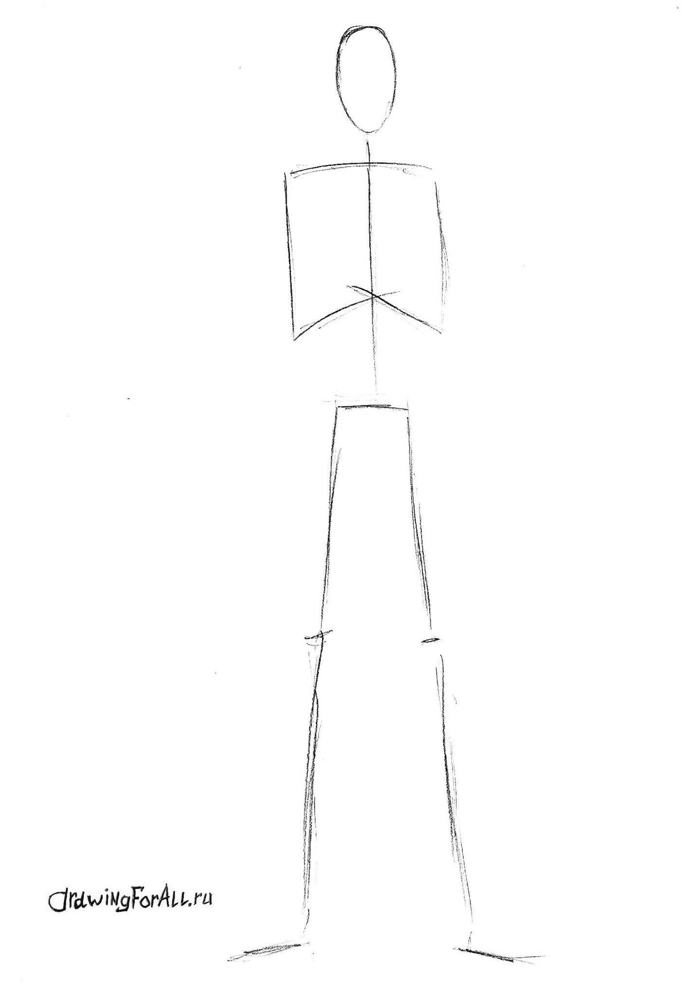 как нарисовать слендермена карандашом