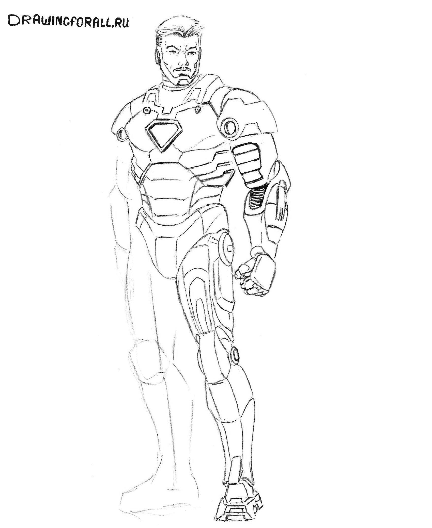 как правильно рисовать железного человека