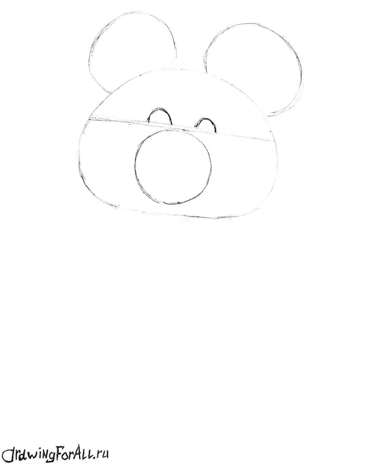 как рисовать олимпийского мишку карандашом