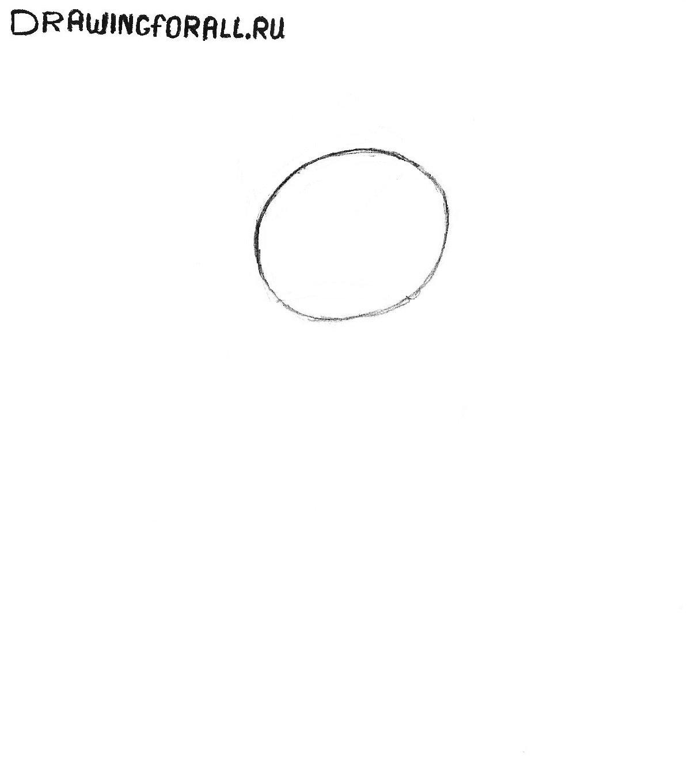 как рисовать снеговика