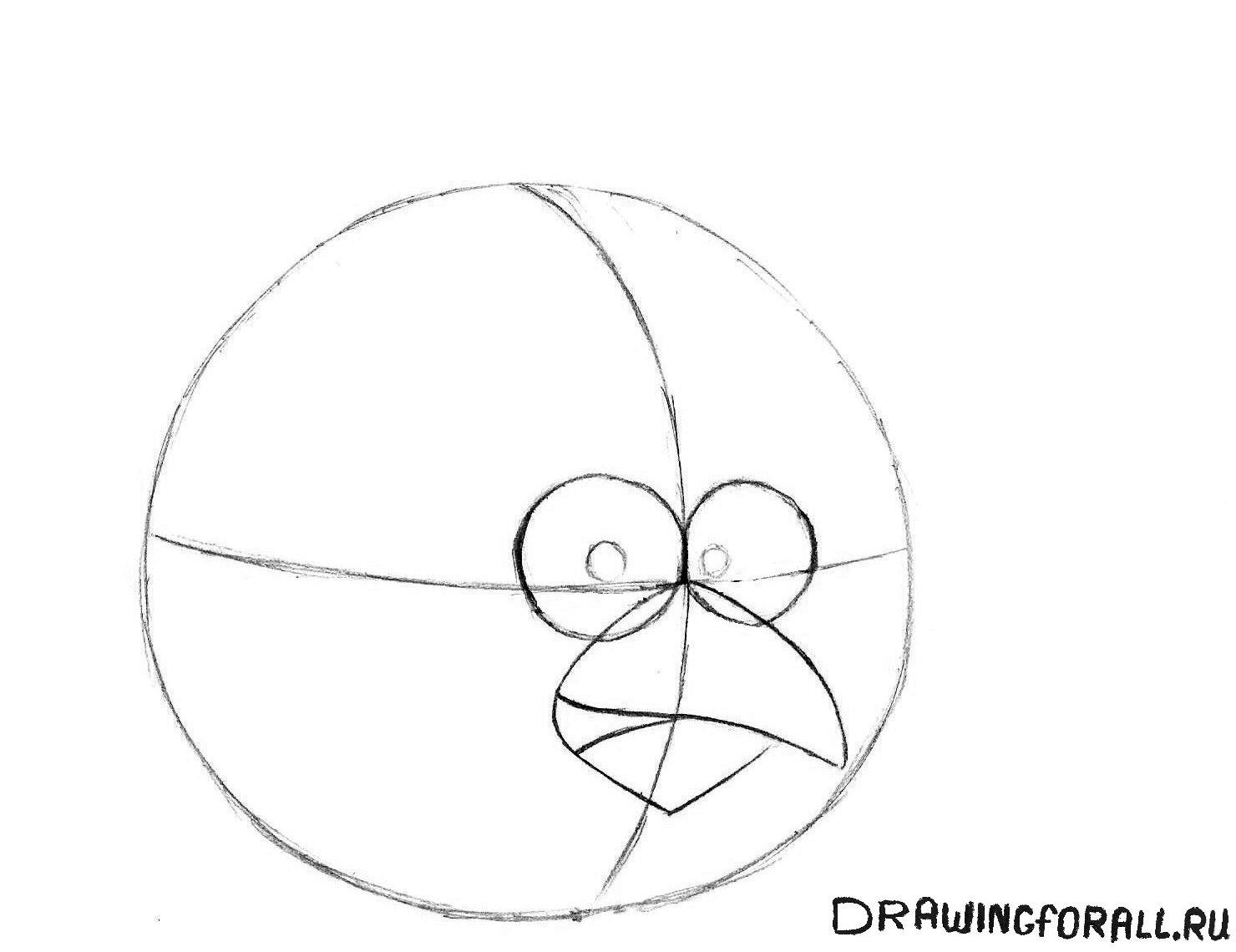 как рисовать энгри бёрдз