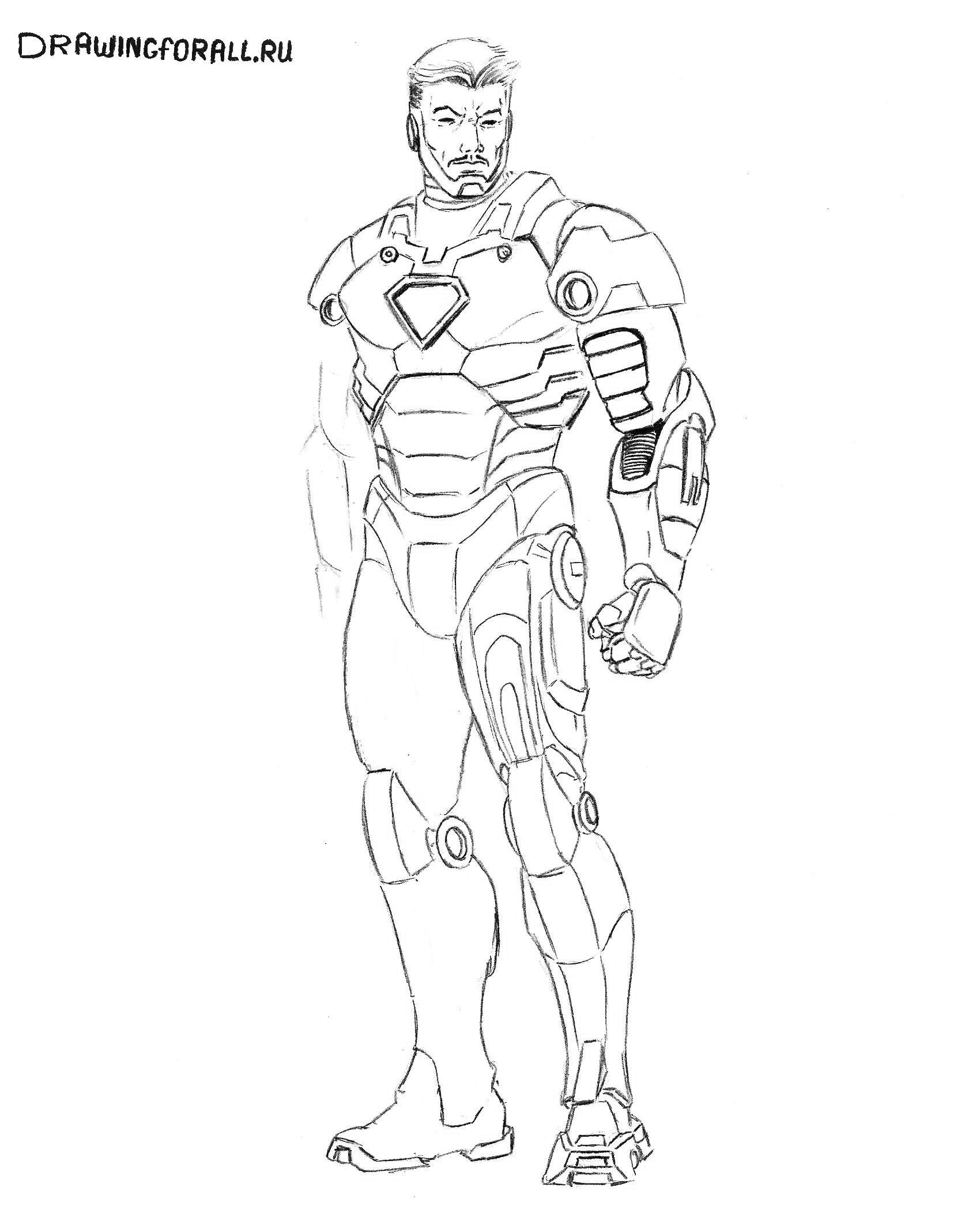картинки железного человека нарисованные