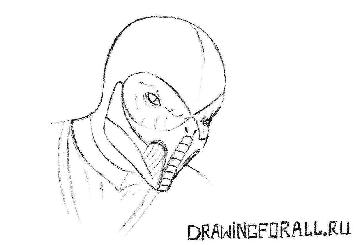 маска рептилии мортал комбат