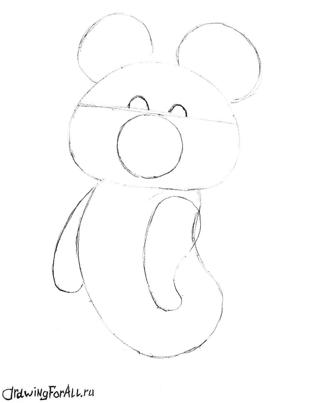 олимпийский мишка нарисованный