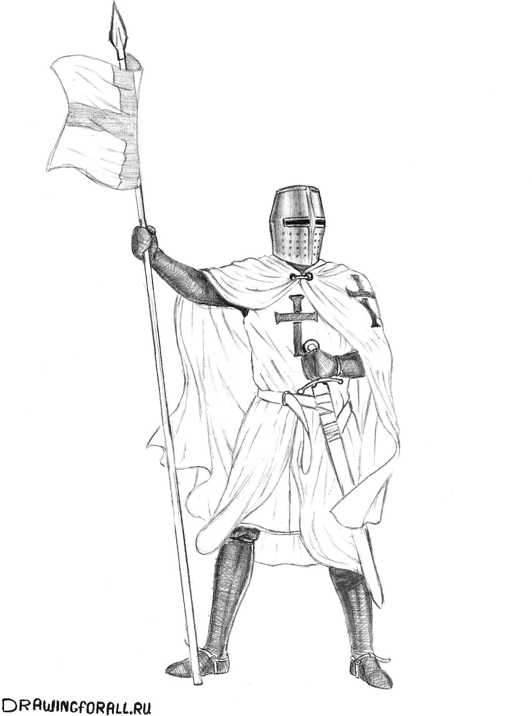 рисуем ноги рыцаря