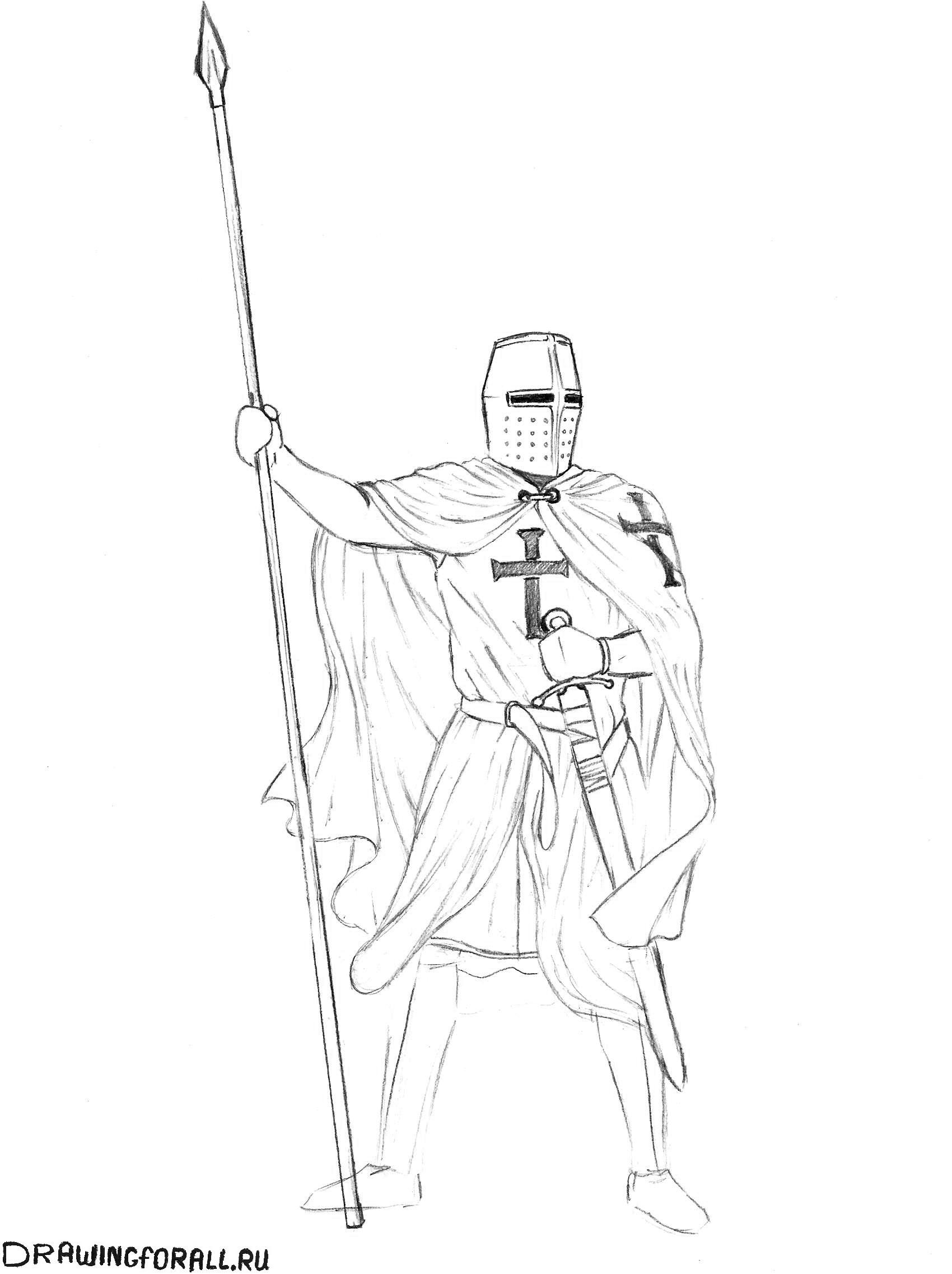 рыцарь как рисовать