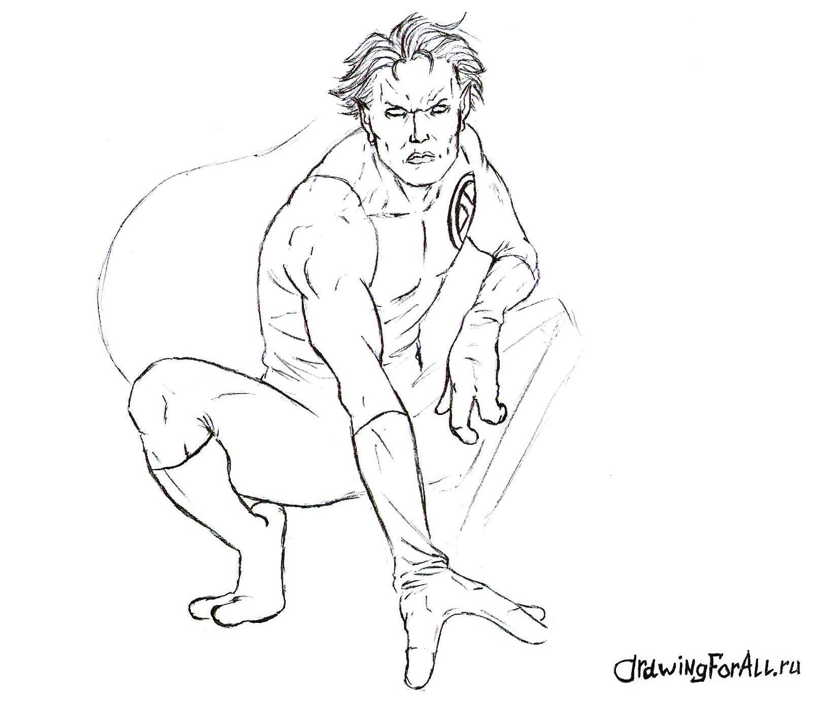 Как нарисовать супергероя из Людей Икс