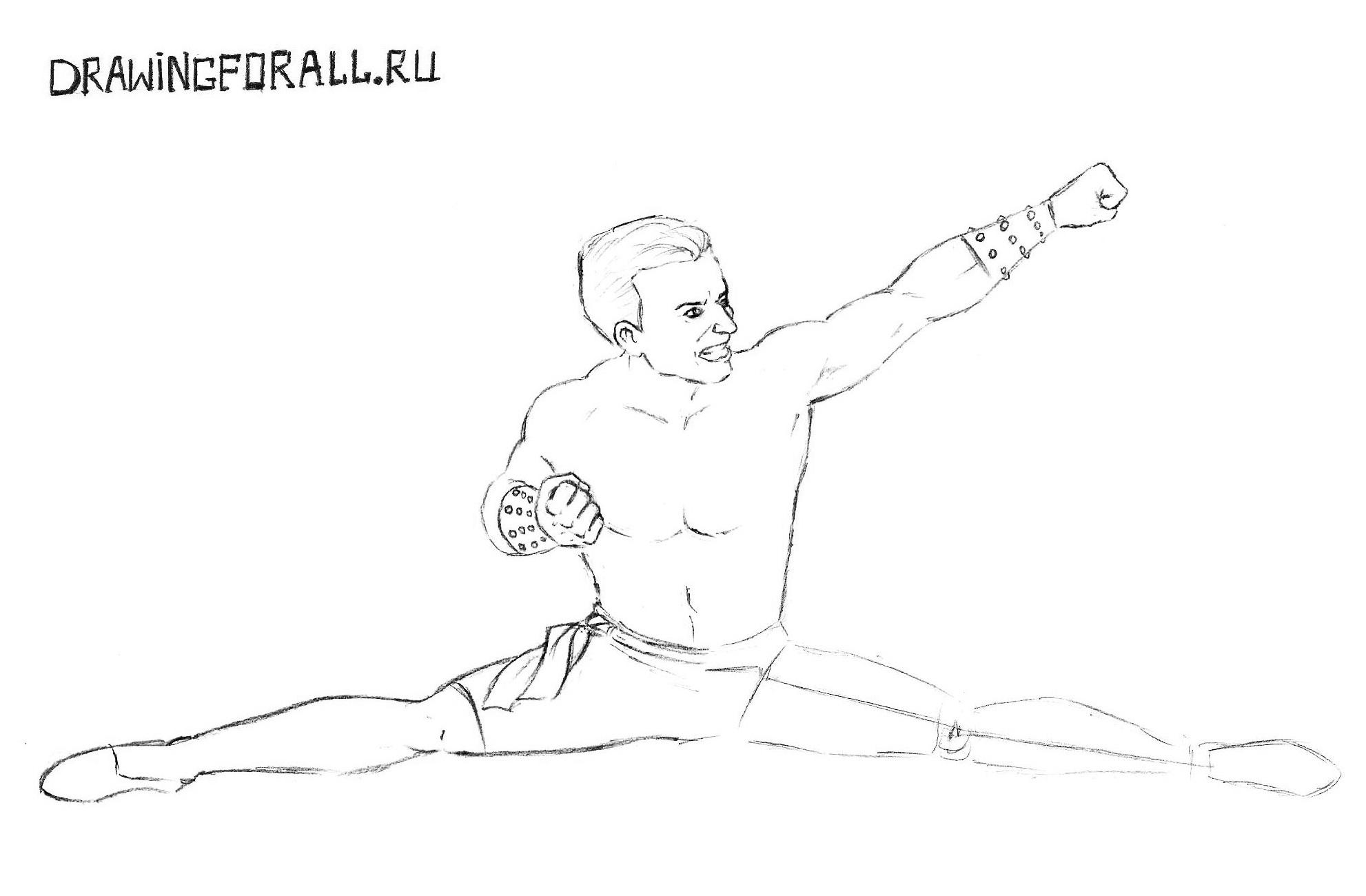 Мортал Комбат как нарисовать героев