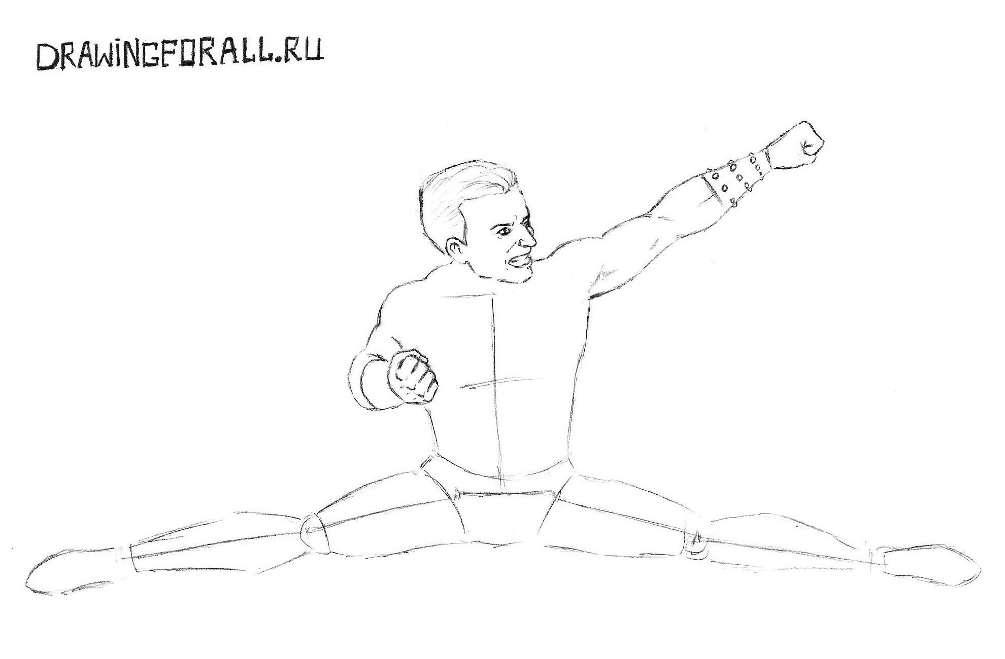Мортал комбат как нарисовать