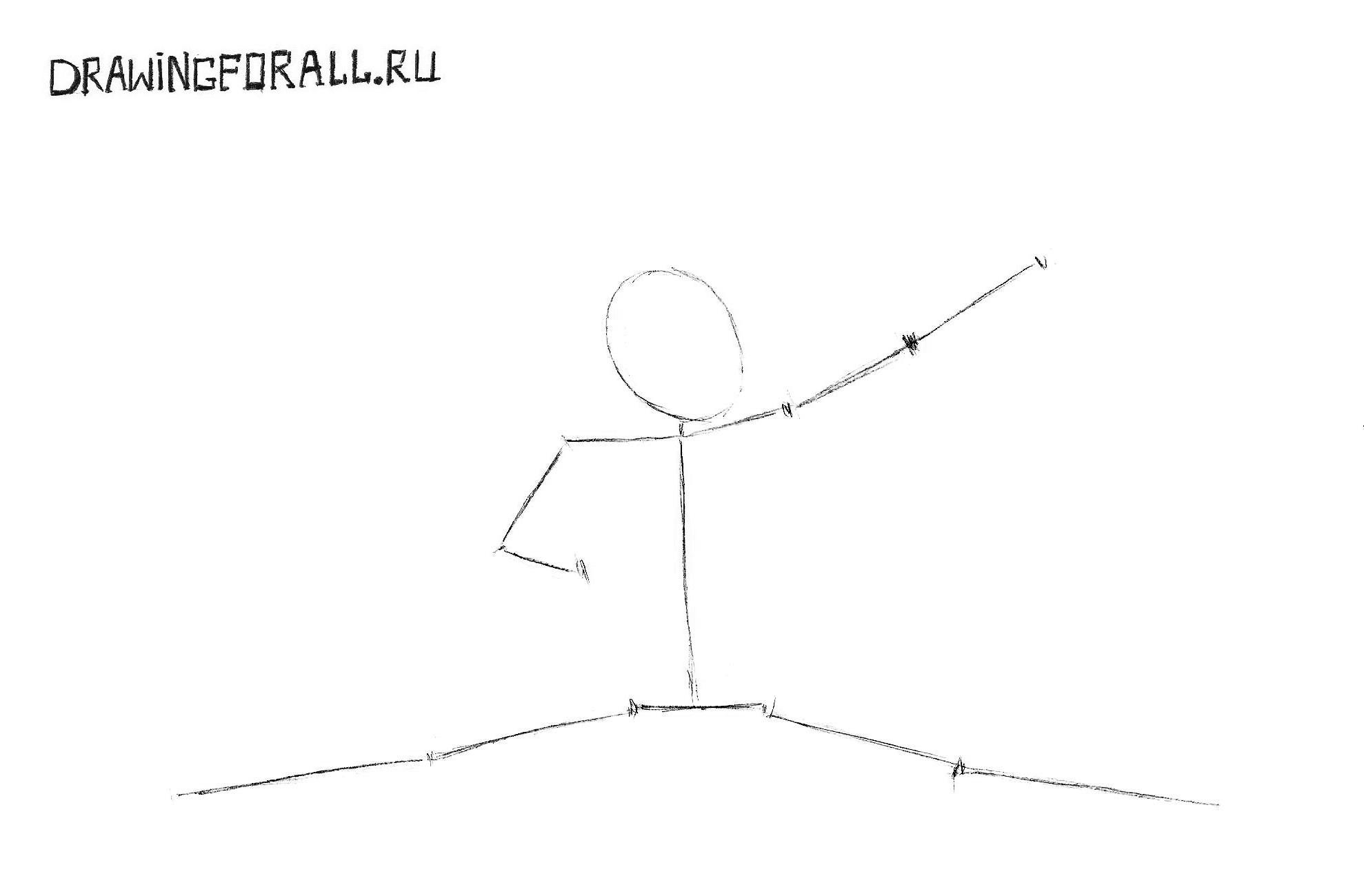 джонни кейдж из мортал комбат нарисованный