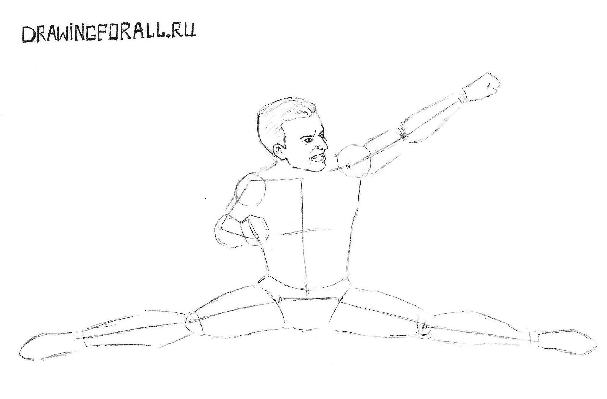 как нарисовать героя мортал комбат