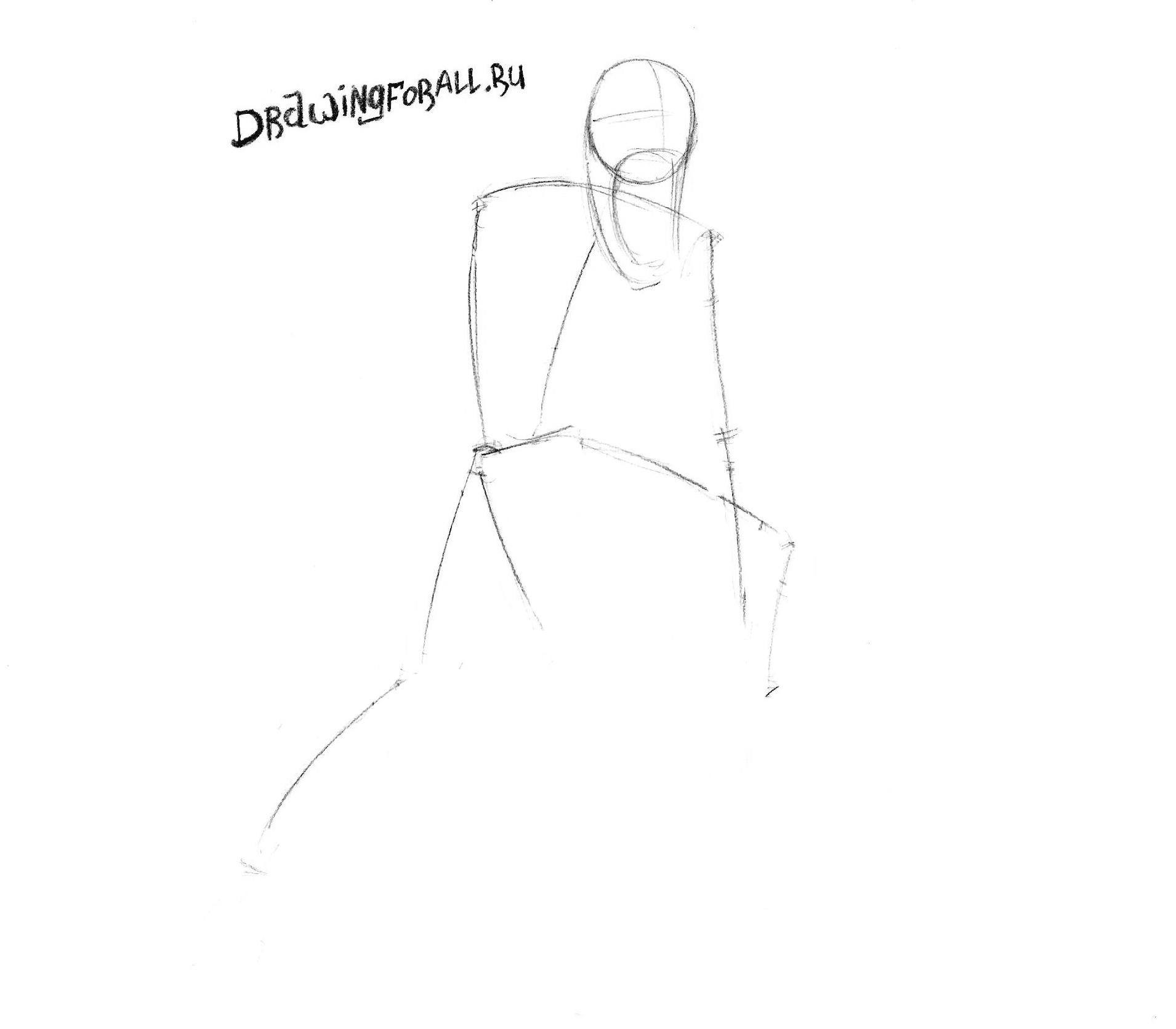 как нарисовать карнажа карандашом