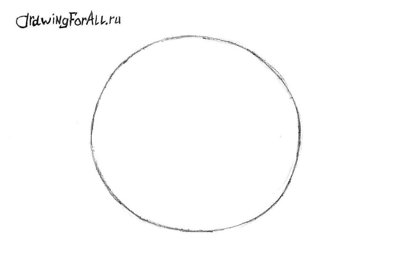 как нарисовать колобка поэтапно