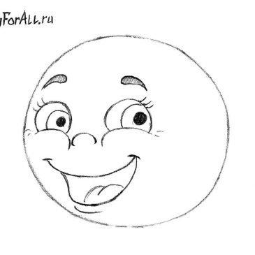 Как нарисовать Колобка