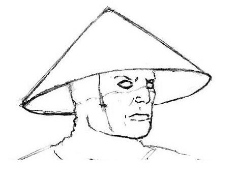 как нарисовать лицо райдена