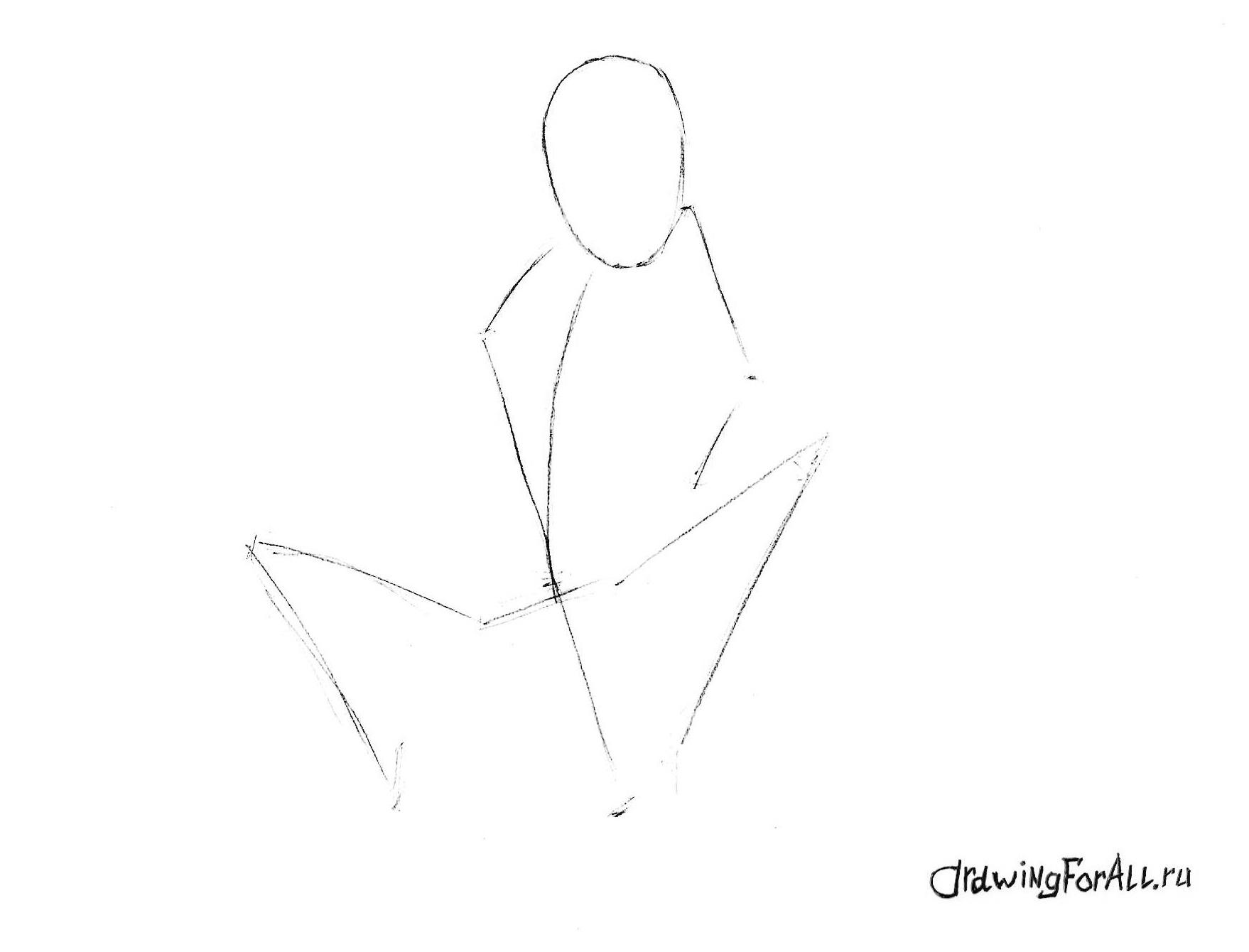 как нарисовать ночного змея карандашом