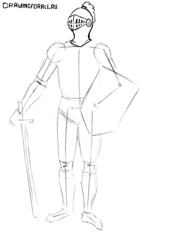 как нарисовать простого рыцаря