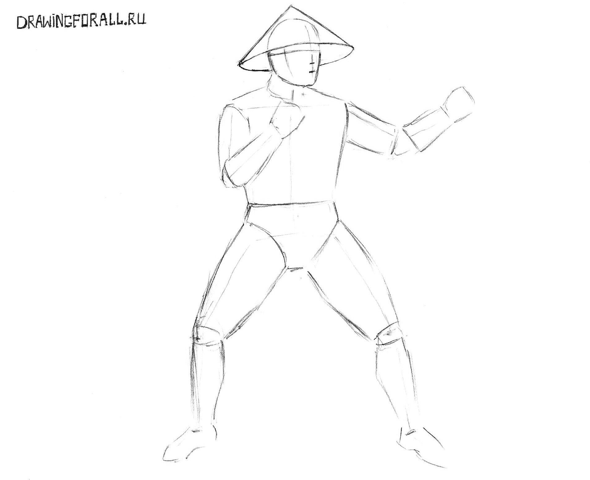 как нарисовать райдена карандашом