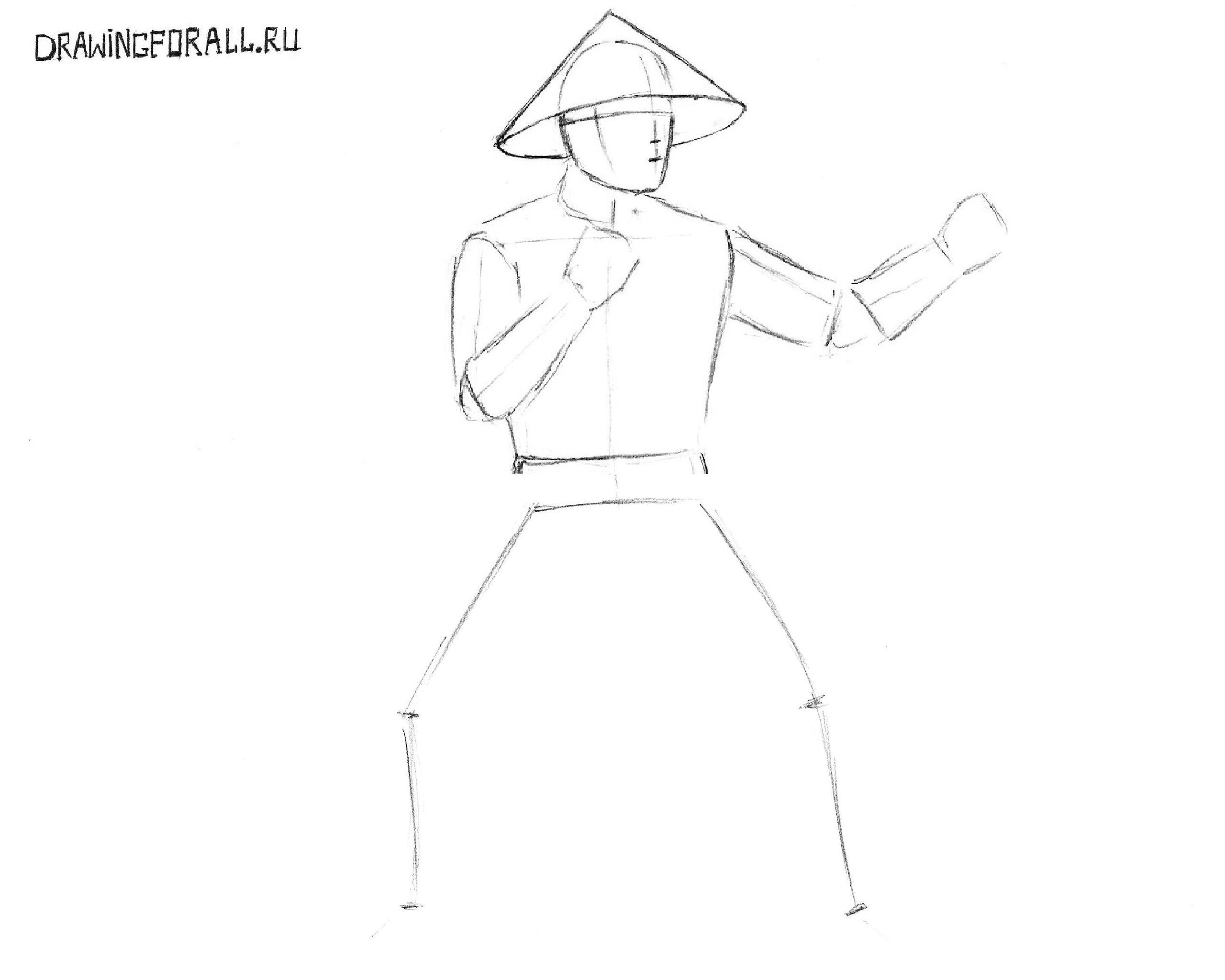 как нарисовать райдена