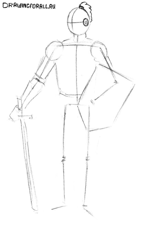 как нарисовать ребёнку рыцаря