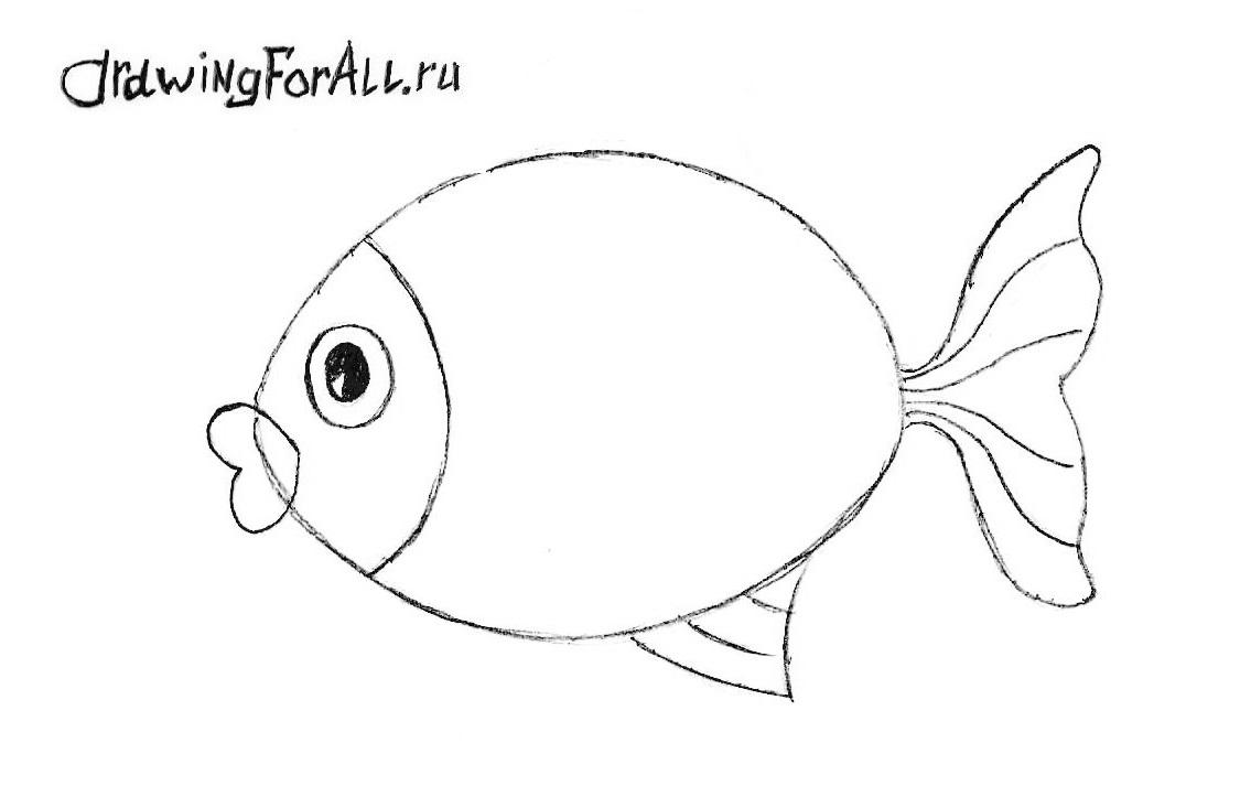 как нарисовать рыбу фото