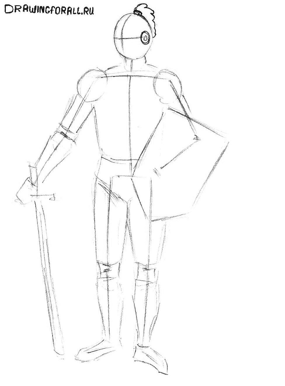 как нарисовать рыцаря легко