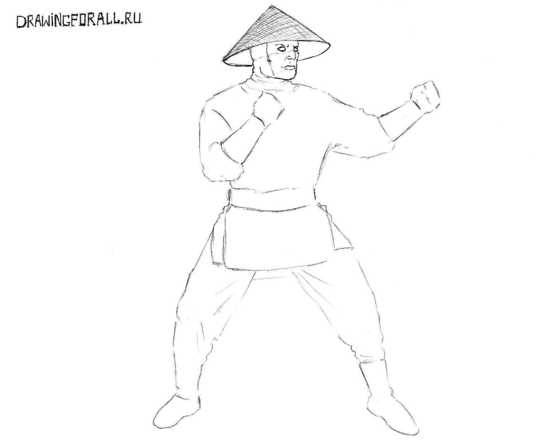 как нарисовать шляпу райдена