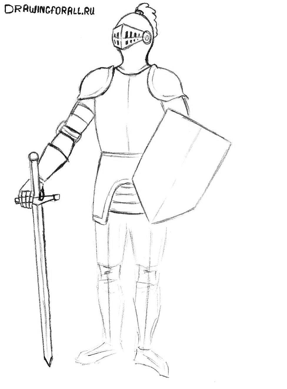 нарисованный рыцарь