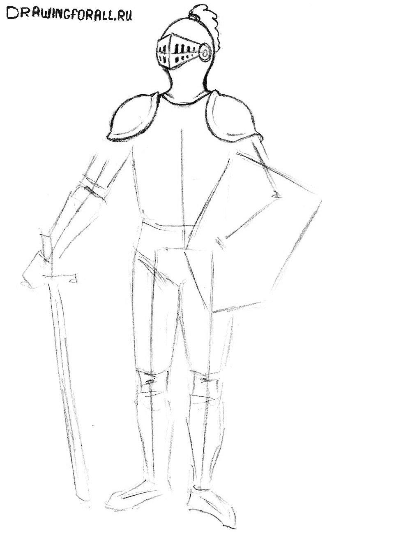 рыцарь нарисованный