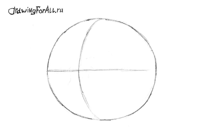 Как нарисовать колобка карандашом поэтапно
