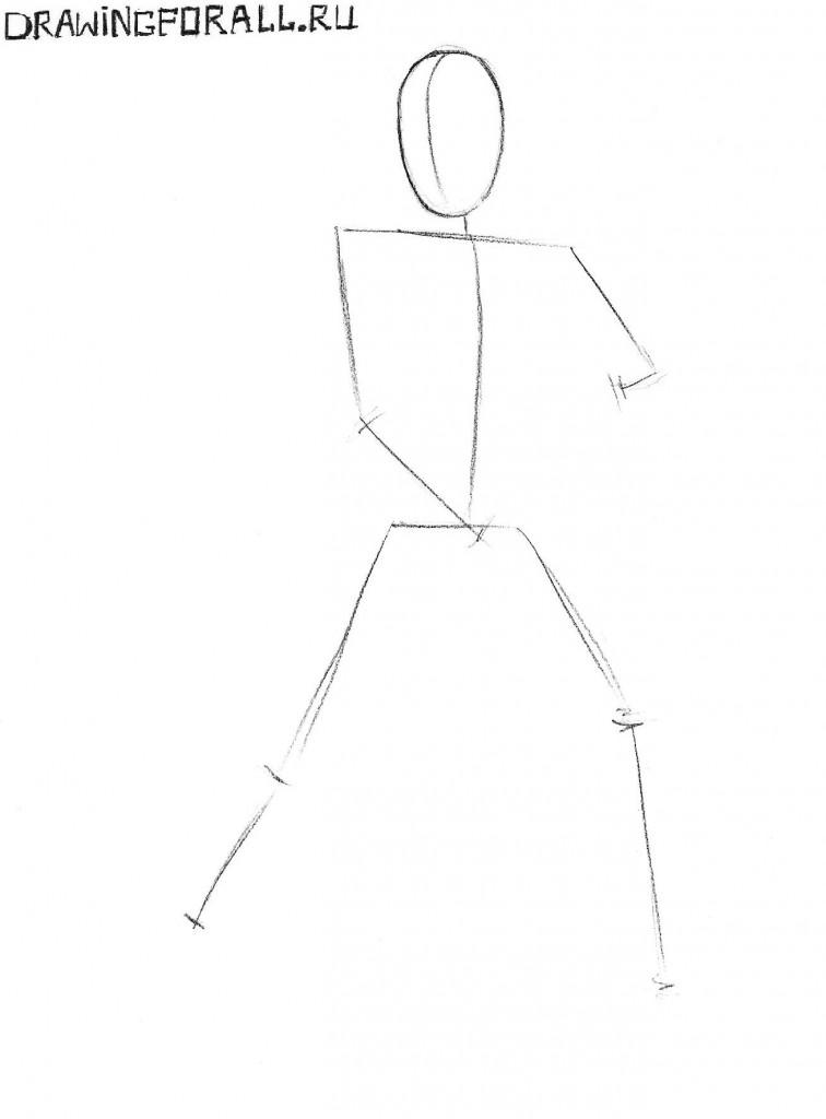 Как нарисовать Смоука из Мортал Комбат