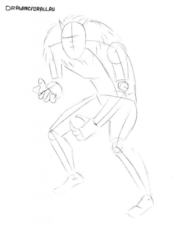 Как нарисовать карандашом оборотня