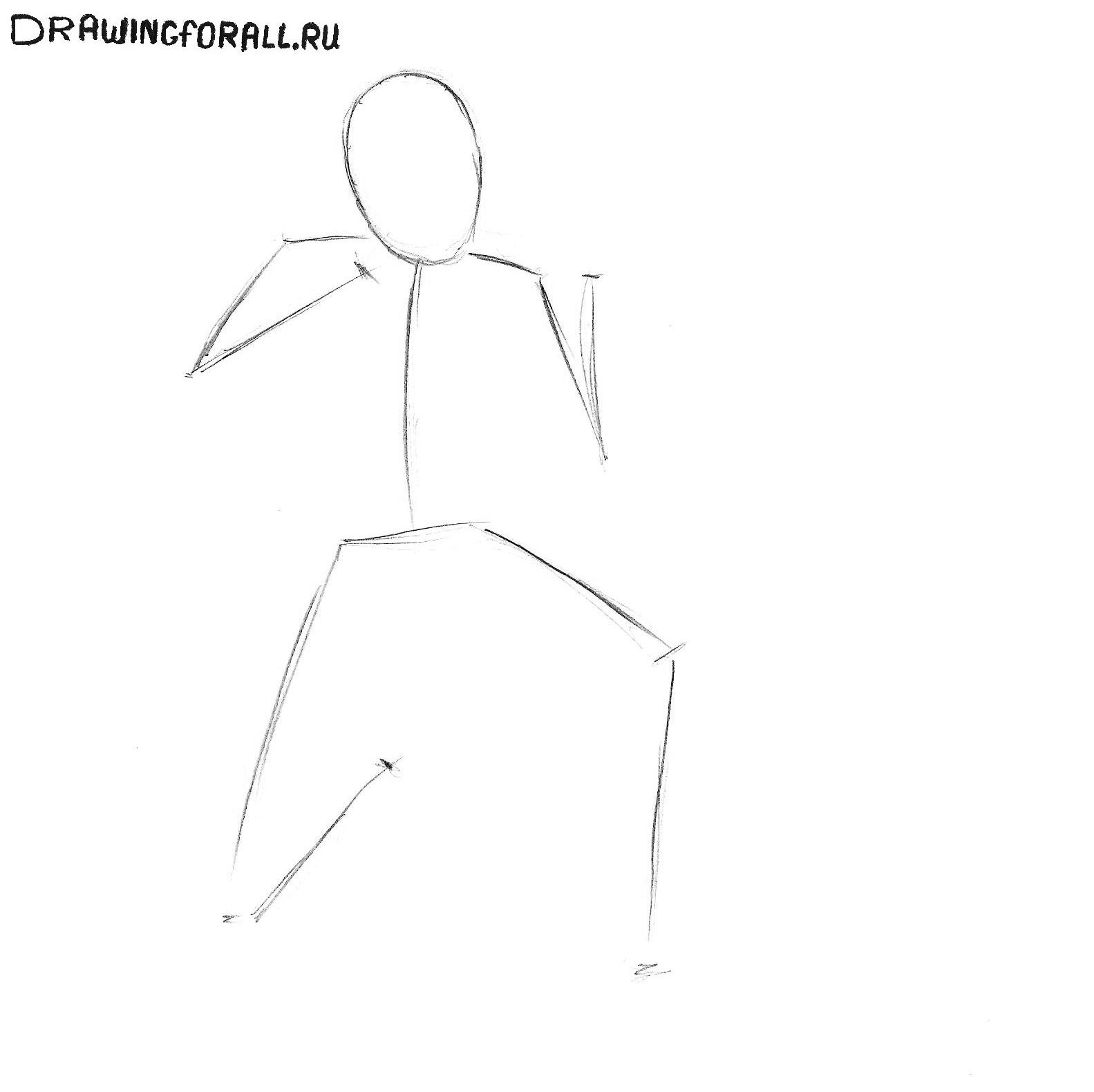 Как нарисовать солдата поэтапно