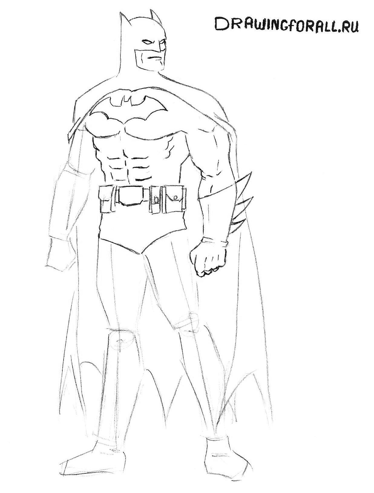 бэтмен как нарисовать