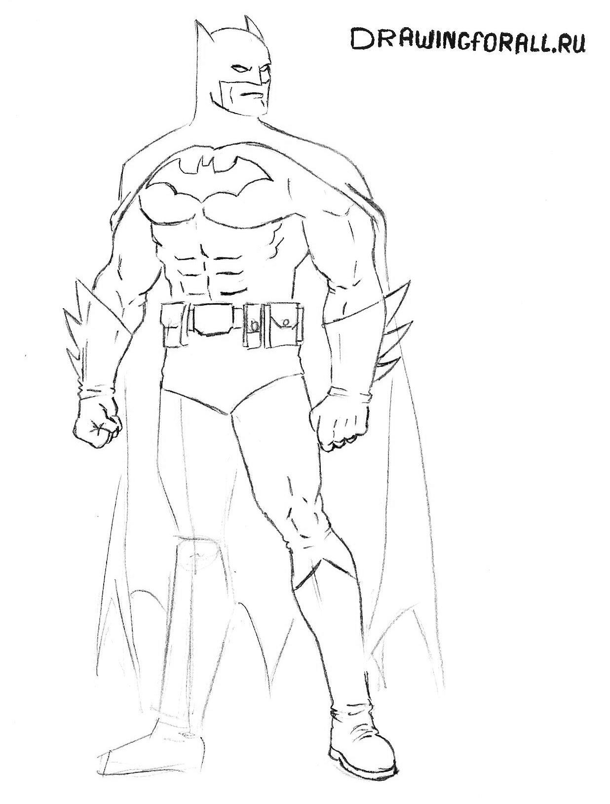 как легко нарисовать бэтмена