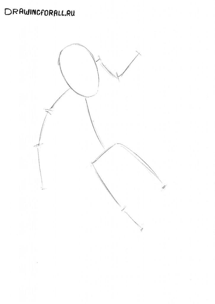 как нарисовать Дэдпула поэтапно
