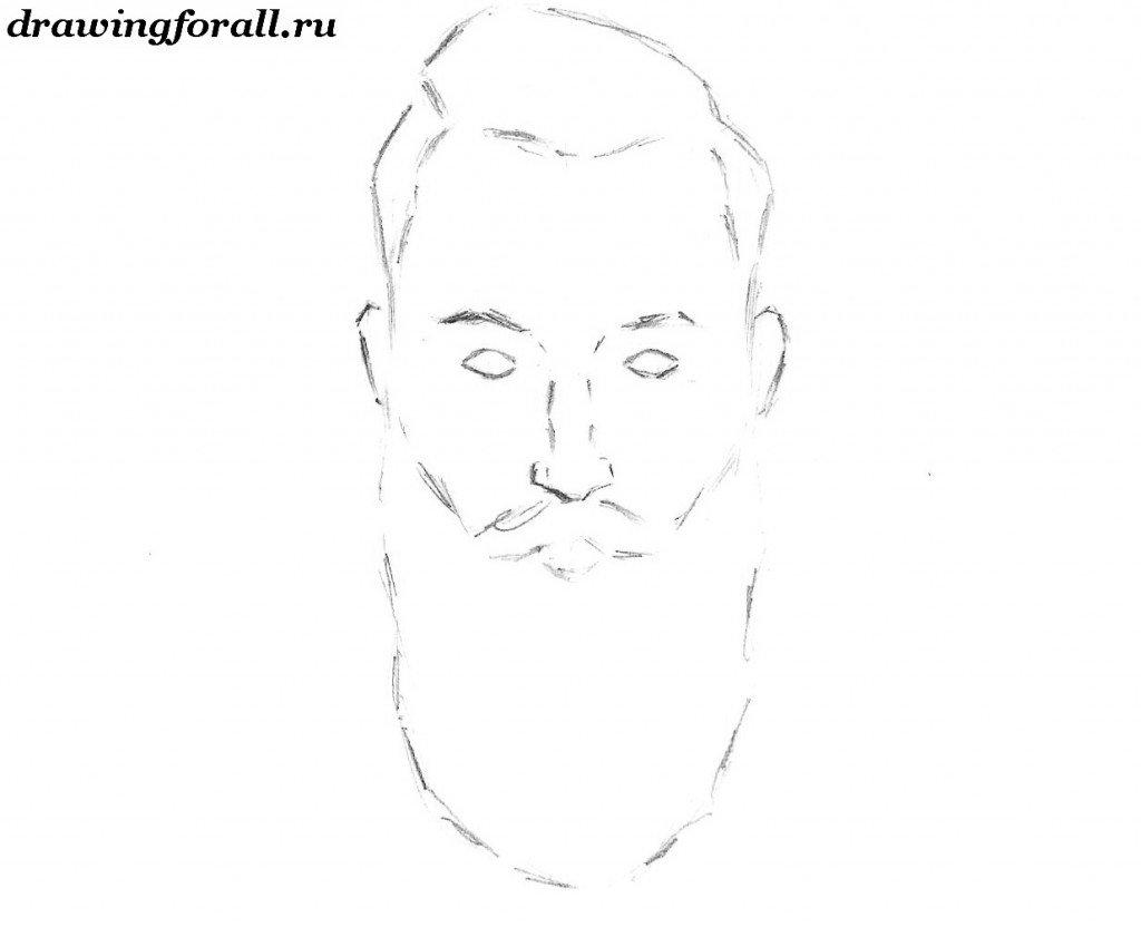 как нарисовать бороду онлайн