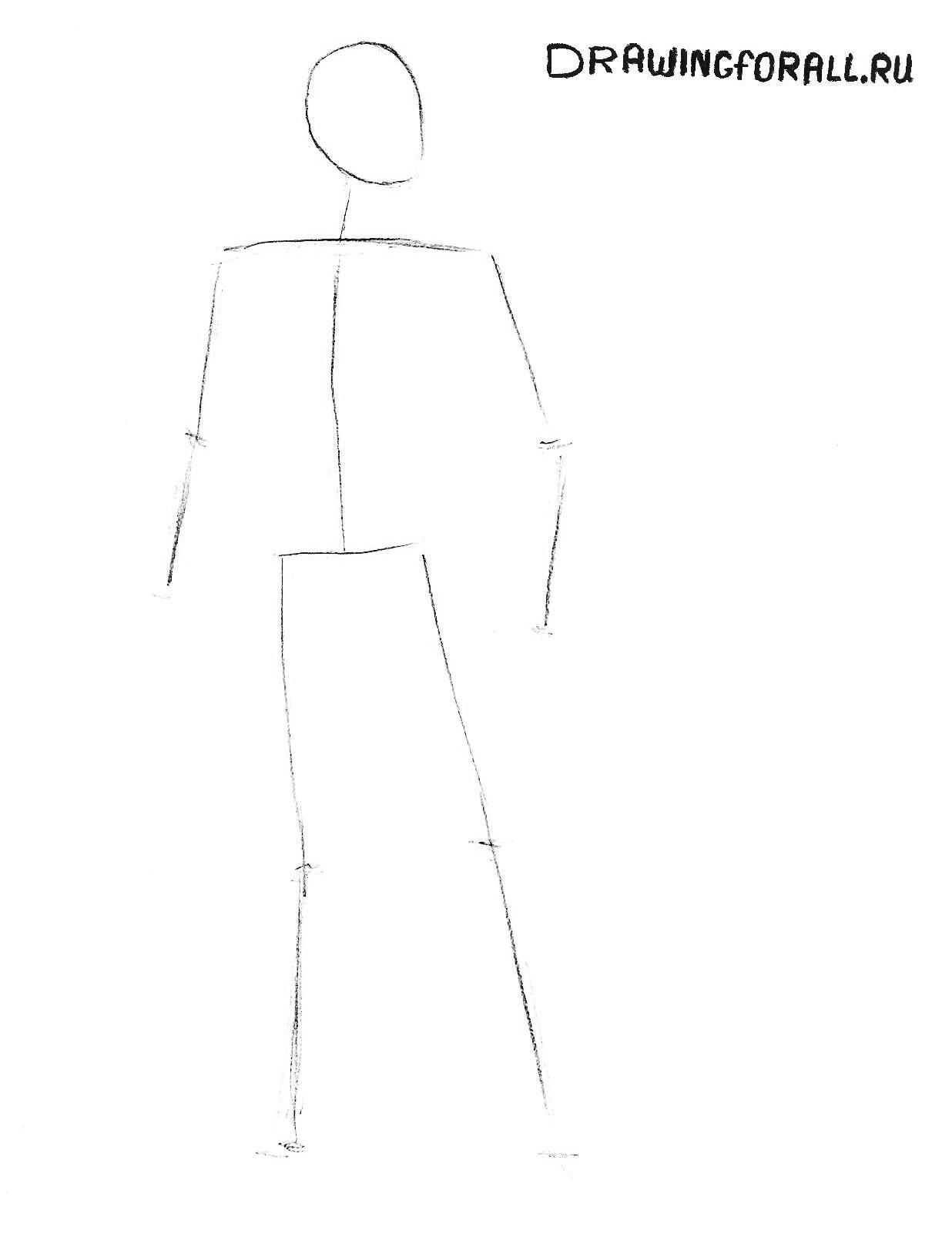 как нарисовать бэтмена карандашом