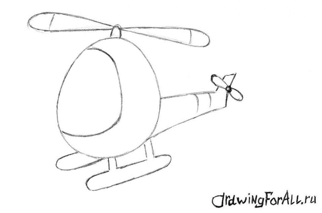 как нарисовать вертолёт