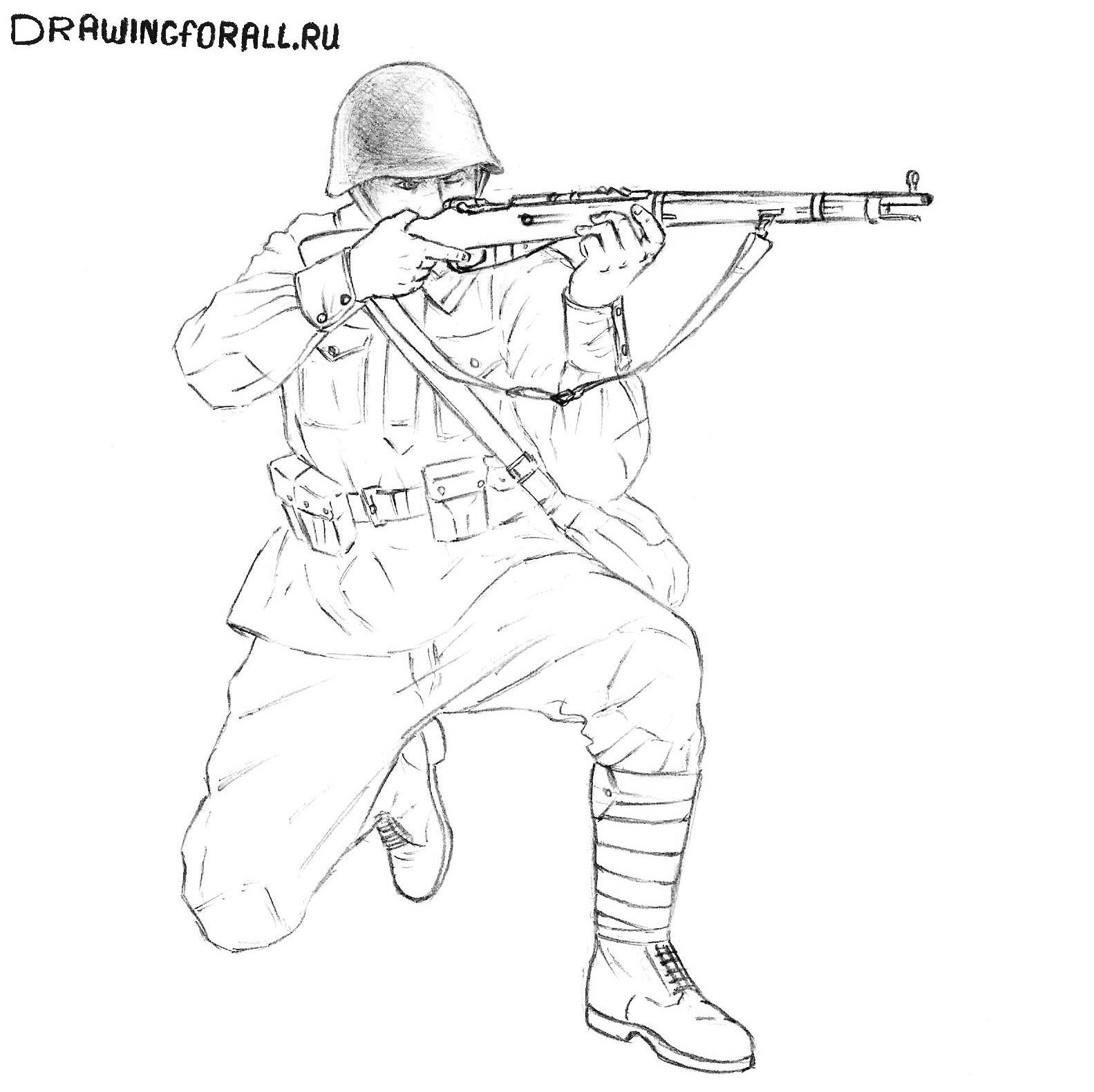 как нарисовать каску солдата