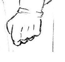 как нарисовать кулак Бэтмена