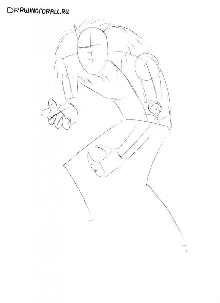 как нарисовать оборотня карандашом