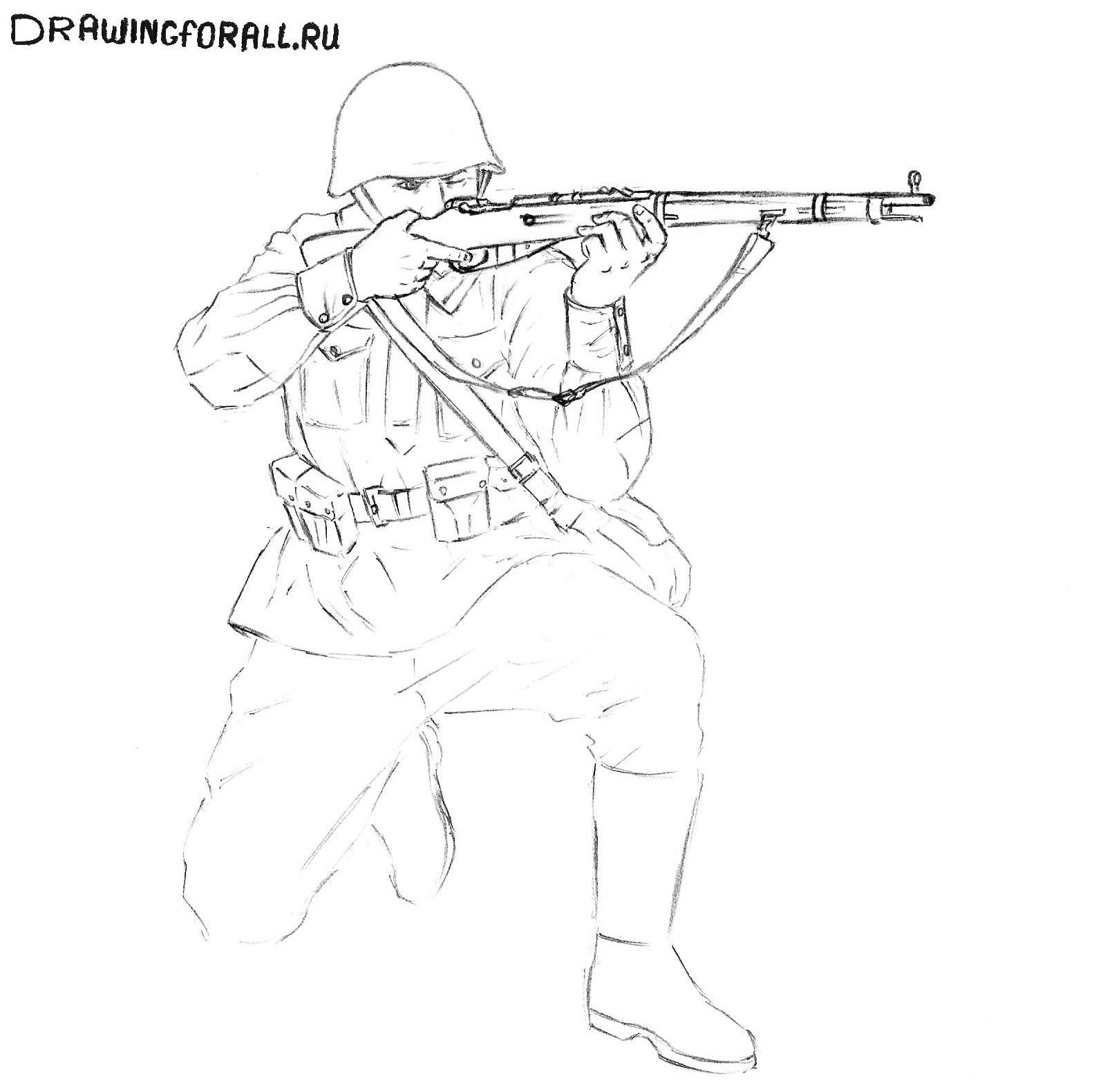 буквенные картинки солдата для схем год стоит