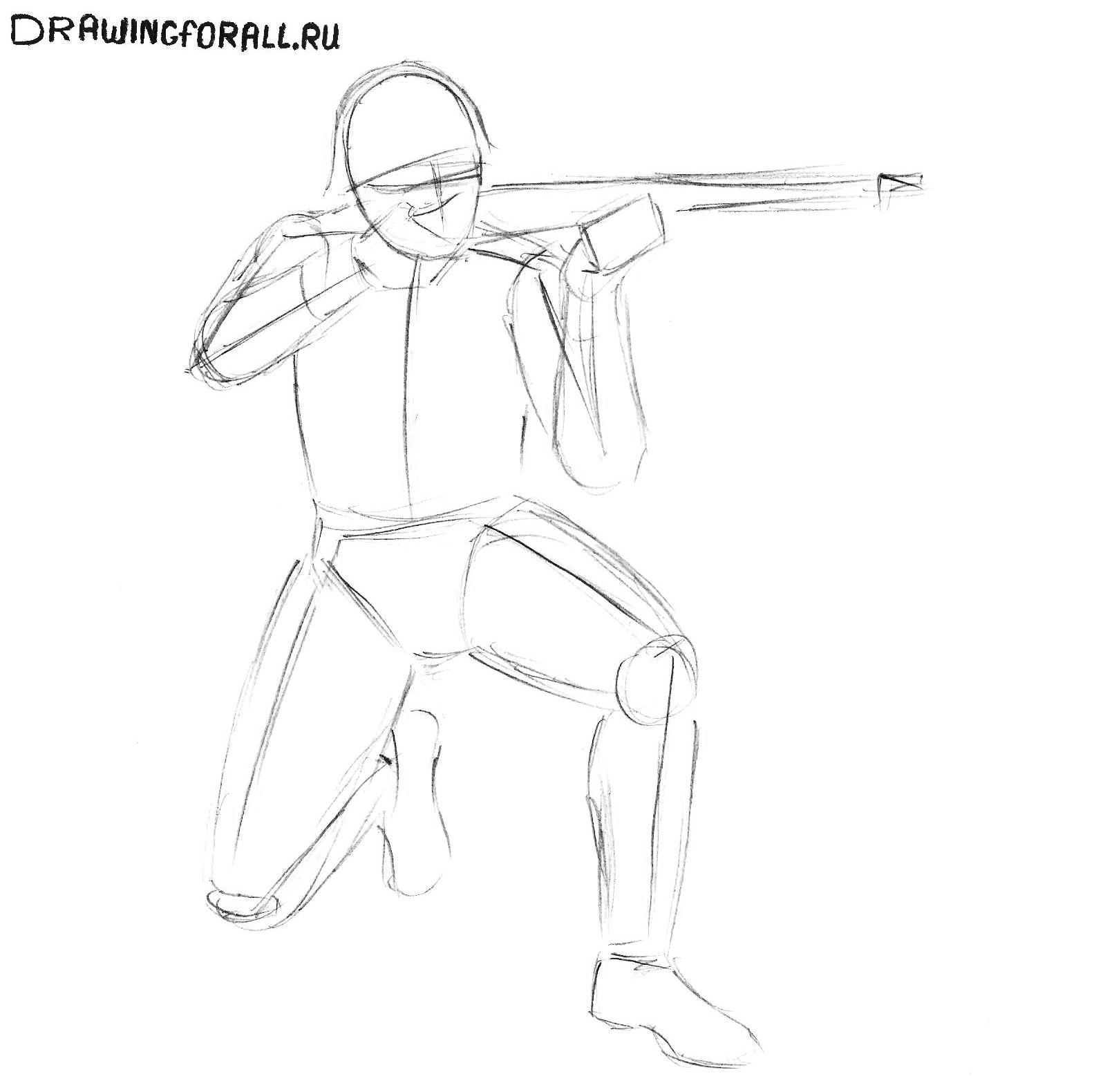 как нарисовать солдата фото