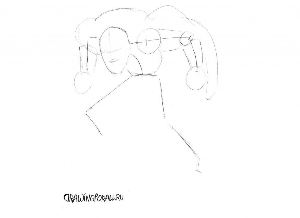 как нарисовать хобгоблина из человека-паука