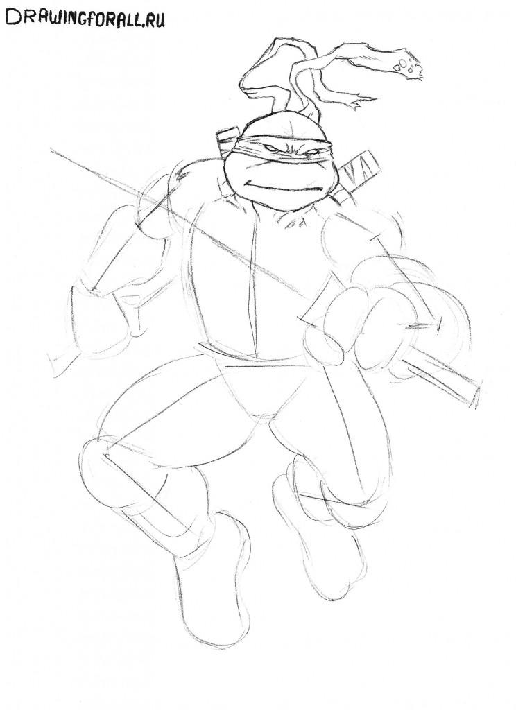 как нарисовать черепашек ниндзя картинки