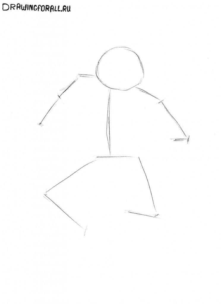 как нарисовать черепашек ниндзя поэтапно