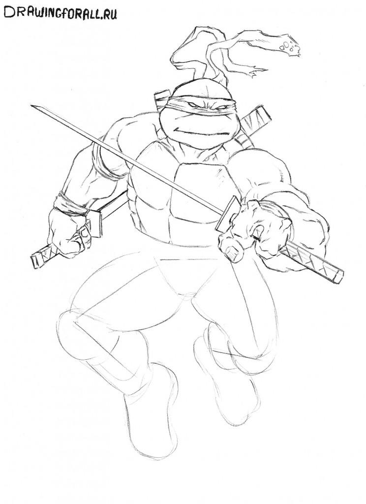 как нарисовать черепашек ниндзя 2012