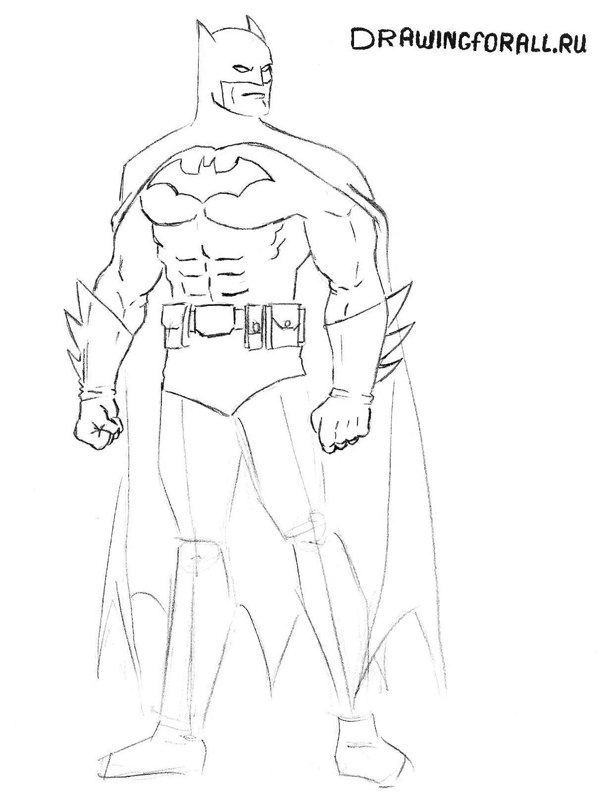 нарисованный бэтмен